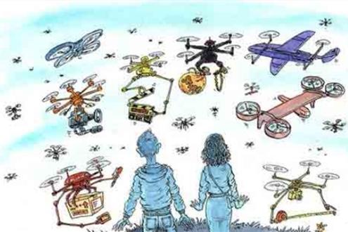 最新的威胁:成群的无人机旨在压倒反无人机装